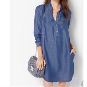 UNIQLO Dark Denim Buttondown Shirt Dress